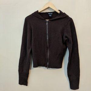 Brown sweater hoodie